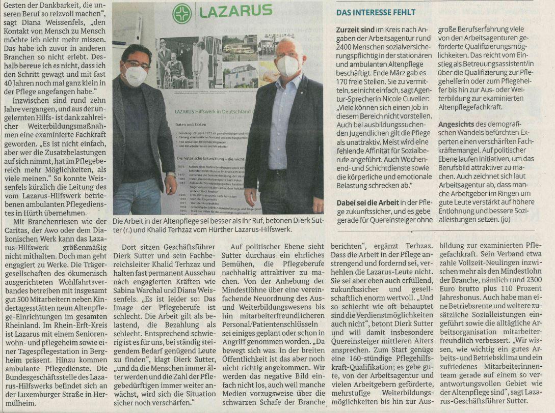28 Aktuelles  LAZARUS Hilfswerk in Deutschland e.V.
